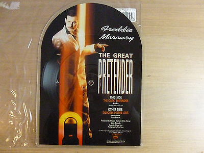 "Freddie Mercury ‎– The Great Pretender, 7"", Shape, Picture Disc , Vinyl: m-   #1"