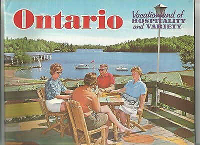 Ontario Vacationland of Hospitality and Variety, 16 page Tourist booklet, 1960s
