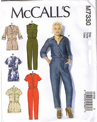 Button Up Utility Jumpsuit Romper Mccalls Sewing Pattern Xs S M 4 6