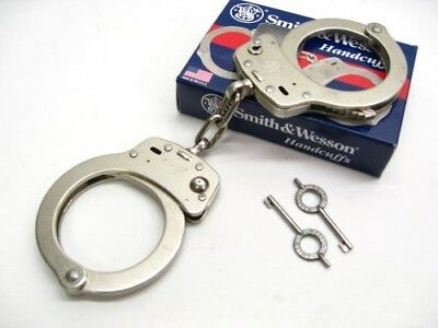 SMITH & WESSON S&W Chain Link Model 104 High Security Handcuffs + Keys! 350107