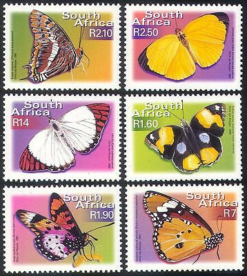 RSA/South Africa 2001 BUTTERFLIES/Insects/Nature/Butterfly 6v (n16863)