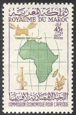 Morocco 1962 Economy/Farming/Tractor/Industry/Transport/Trade/Map 1v (n42977)