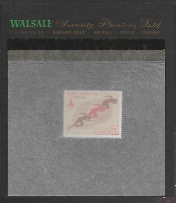 Lesotho (1876) - 1980 Moscow Olympics - Sprint 10s essay on WALSALL PROOF CARD