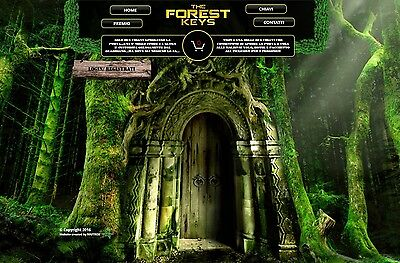 """WEBSITE / SITO WEB """"THE FOREST KEYS"""" IN AFFITTO • eCommerce/Game • 3 MESI"""