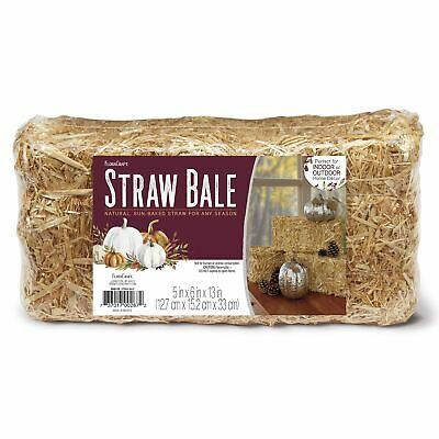 """Straw Bale 6""""X5""""X13""""-Natural, Set Of 3"""