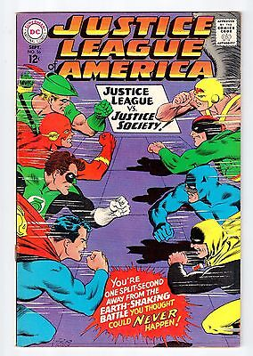 DC JUSTICE LEAGUE OF AMERICA #56 Sept 1967 vintage comic FN/VF condition