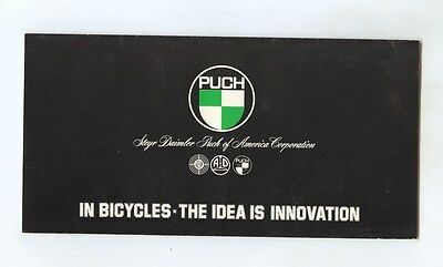 1980 Puch Bicycle Brochure my8030