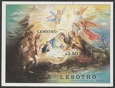 Lesotho (1880) - 1980 Christmas IMPERF m/sheet unmounted mint