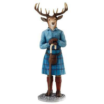 Border Fine Arts Stags With Style Collection Malcolm Figurine New Boxed A27428