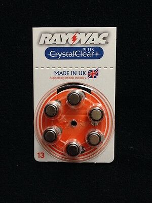 Rayovac Hearing Aid Batteries Size 13 Pack Of 6