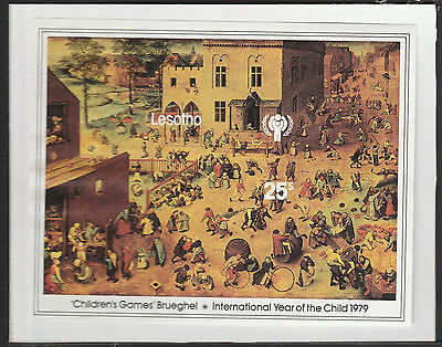 Lesotho (1888) - 1979 Year of the Child IMPERF m/sheet mounted on card