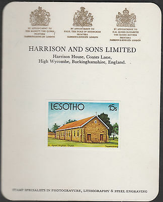 Lesotho (1890) - 1980 Christmas 15s Imperf on HARRISON PROOF CARD