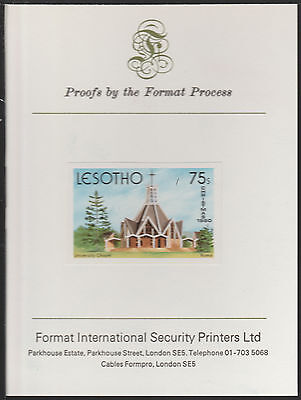 Lesotho (1892) - 1980 Christmas 75s Imperf on FORMAT INTERNATIONAL  PROOF CARD