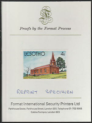 Lesotho (1893) - 1980 Christmas 4s Imperf on FORMAT INTERNATIONAL  PROOF CARD
