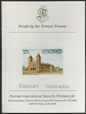 Lesotho 1895 - 1980 Christmas 25s Imperf on FORMAT INTERNATIONAL  PROOF CARD