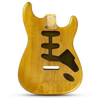 Natural Gloss Finish Stratocaster Electric Guitar Body - 2 Piece American Alder