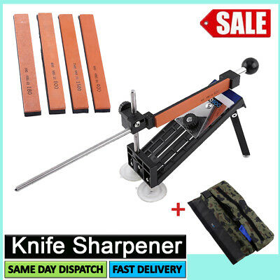 Professional Knife Sharpener Tools System Kitchen  Fix-angle Sharpening 4 Stones