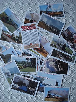 Full set of 30 x Castella Britain`s Steam Railways cards