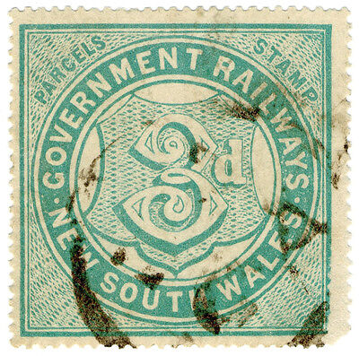 (I.B) Australia - NSW Railways : Parcel Stamp 3d