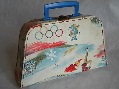 Vintage Winter olympics childs case 1960s
