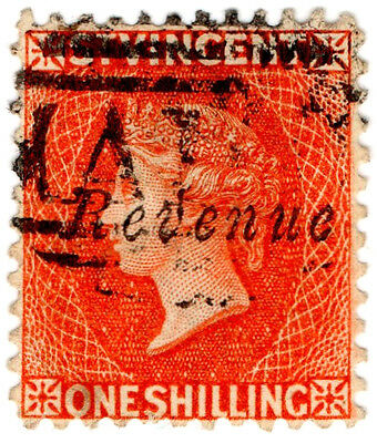 (I.B) St Vincent Revenue : Duty Stamp 1/- (1883)