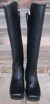 civil war knee high black leather cavalry boots 11