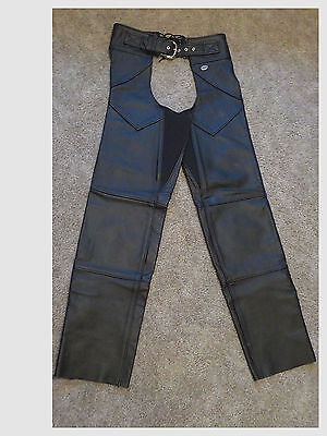 Harley Davidson Motor Cycle Leather Chaps Women Size Small 98480-98Vw*very Nice