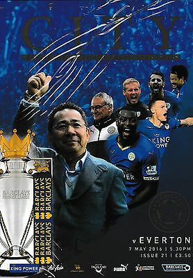 Football Programme LEICESTER CITY v EVERTON May 2016 CHAMPIONS EDITION