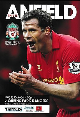 Football Programme LIVERPOOL v QPR May 2013