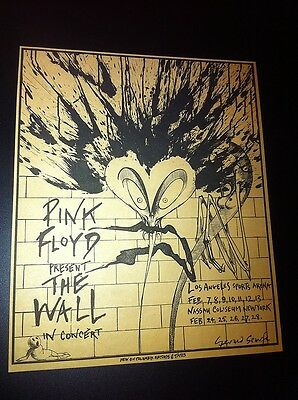 Pink Floyd The Wall Roger Waters Gerald Scarfe Concert Poster Type Newspaper Ad