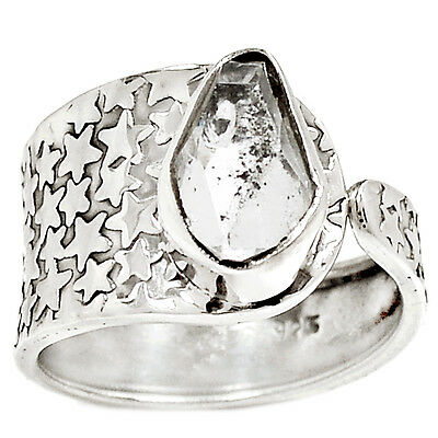 Herkimer Diamond 925 Sterling Silver Ring Jewelry s.9 RR4324
