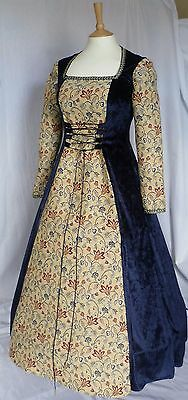 Medieval Dress Renaissance Wedding Gown Pagan Gothic Custom Made to size