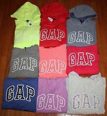 NEW NWT Womens GAP Arch Logo Pullover Hooded Sweatshirt Hoodie CHOICE 9 COLORS