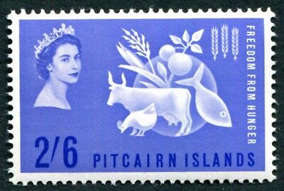 PITCAIRN ISLANDS 1963 2s6d SG32 MNH FG Freedom from Hunger Omnibus Issue #W12