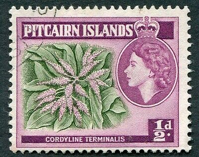 PITCAIRN ISLANDS 1963 1/2d SG33 used NG Cordyline terminalis #W12