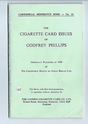 Cartophilic Reference Book No 13 Cigarette Card Issues Of Godfrey Phillips