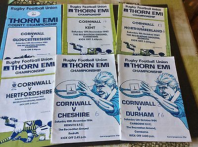 6 Rugby Football Union Thorn Emi County Championship Programmes - 1981-84