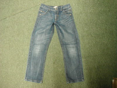 "Marks & Spencer Straight Jeans W 28"" Leg 24"" Faded Dark Blue Boys 10 Yrs Jeans"