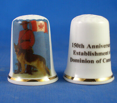 Birchcroft Porcelain China Thimble - Dominion Of Canada 150Th Year  - Free Box