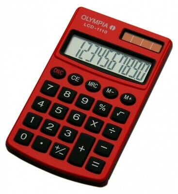 Olympia Calculatrice Lcd-1110 Rouge