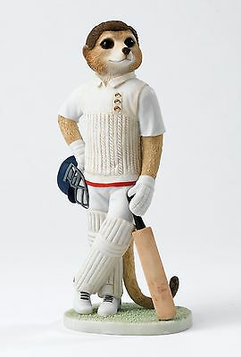 Magnificent Meerkats Howzat Meerkat Cricketer Figurine NEW in Box