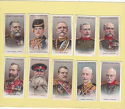 Wills.part Set 39/50 Cards From  Allied Army Leaders.cat £66.30.  Issued 1917