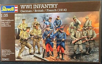 a REVELL 02451 - World War I - German - British - French Infantry  1914   (1/35)