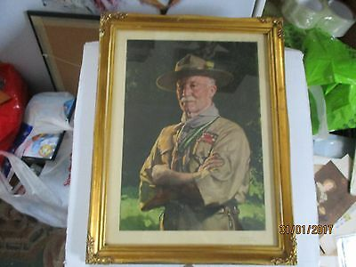 Lord Baden-Powell--- Painted By David Jagger In 1929---Vintage Portrait Print