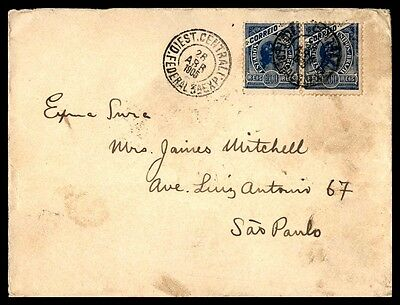 Brazil April 1905 400 Reis Franking Cover To Sao Paulo From Centrali
