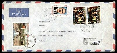 Afghanistan registered cover multifranked to Cincinnati Ohio from Kabul