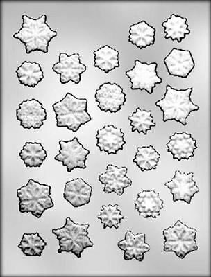 Snowflake Assortment Christmas Holiday Clear Chocolate Candy Mold CK 4115 NEW