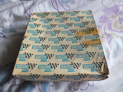 Original Tri-ang Scalextric BOX ONLY for 6 inner curves.  No. MM / T22