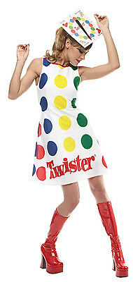 Twister Game Board  60s 70s Dress Up Women Costume
