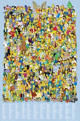 The Simpsons Poster CAST large size 61 cm X 91.5 cm HOMER, LISA, SMITHERS, BART